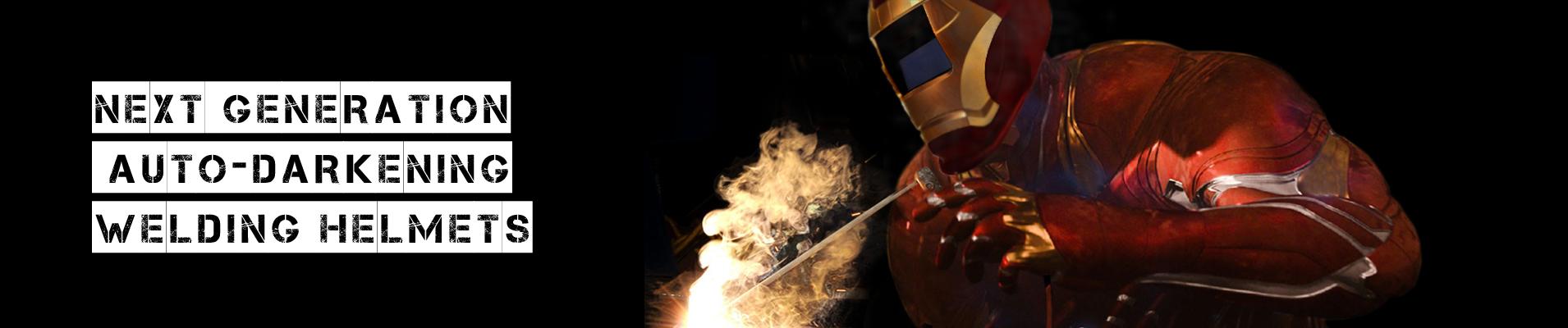 Iron Man inspired auto-darkening welding mask